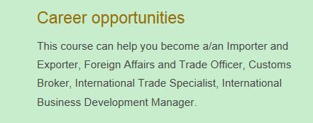 curtin 国际商务就业