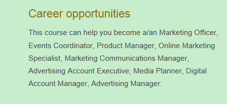 CURTIN营销与广告就业