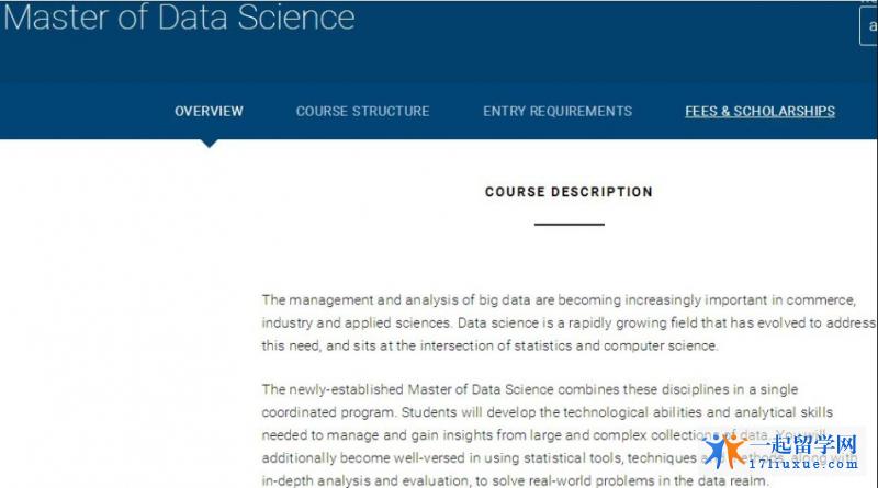 墨尔本大学2017新开硕士专业,数据科学硕士专业