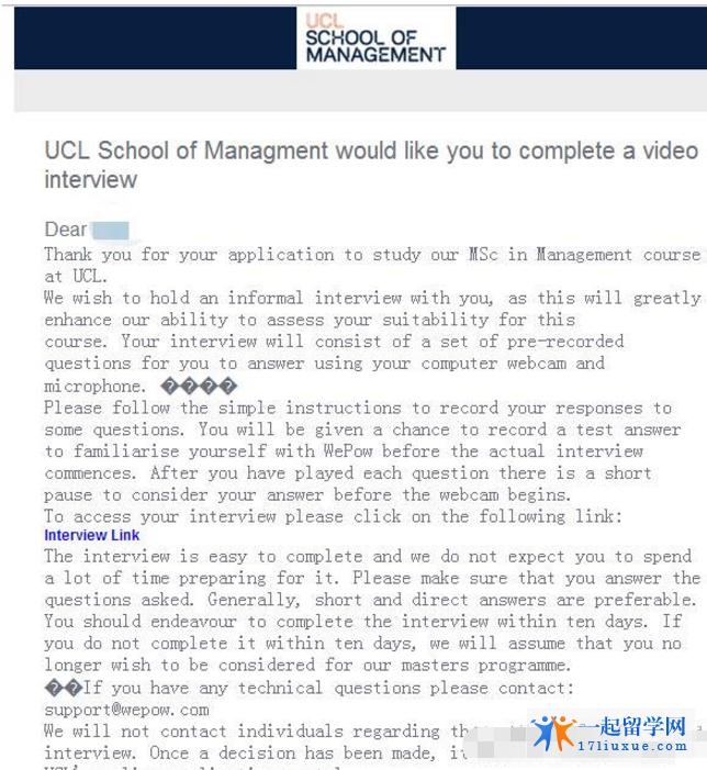 UCL(伦敦大学学院) 最新面试指导