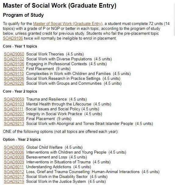 2019年弗林德斯大学社工专业详细解析和案例分析